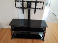"""Z-Line TV Stand with Integrated Mount for TVs Up To 65"""""""