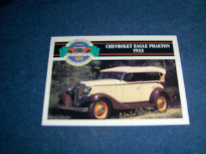 1933 CHEVROLET-BENZ TRICYCLE-2 RARE PANINI TRADING CARDS-1991