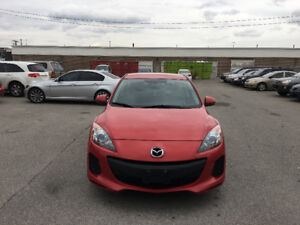 2013 Mazda 3.  CERTIFIED, E TESTED, WARRANTY. NO ACCIDENT