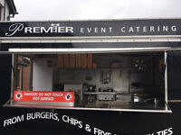 CATERING TRAILER WITH PITCH..ALL CERTIFICATES, STOCKED AND READY FOR WORK