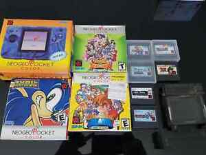 Neo Geo Pocket Color with games