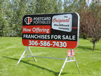 Mini-billboard Sign Franchise For Sale in Sault Ste. Marie