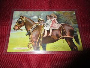 Vintage  Tuck's postcard - Daddies Treat  Childhood Friends