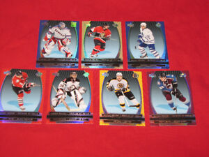 8 McDonald's hockey insert cards + parallel set cards,checklists