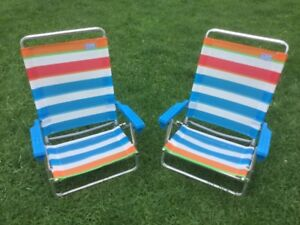 Two Low Beach Chairs