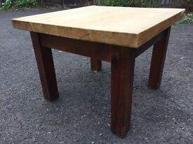 Chunky pine square coffee table