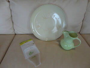 "3 Kitchenware Pieces -Spoon rest, 14"" Serving plate, Pitcher Kitchener / Waterloo Kitchener Area image 1"