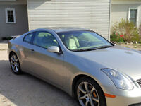 G35 coupe,  6 spd Manual, Brembo pkg, AC, leather, sunroof