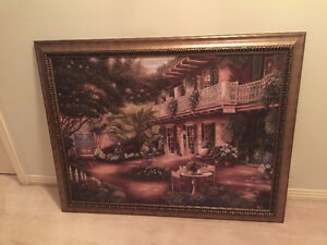EUROPEAN SCENE FRAMED PICTURE