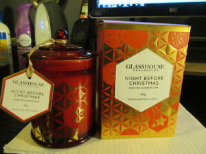GLASS HOUSE CANDLE NIGHT BEFORE CHRISTMAS fr. AUSTRALIA NEW!!
