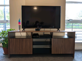 TV unit with shelves and cupboard storage