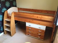 Stompa Rondo solid pine wood/white cabin bed