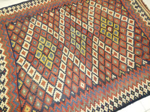 Vintage kilim Hand made rug,wool,