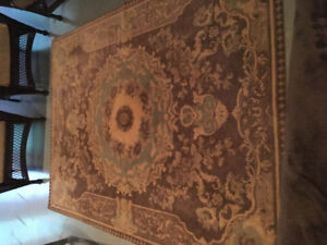 """Woven rug 66 x 89"""" Blue and Beige"""