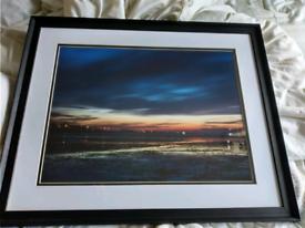 Framed Sunset Photograph taken in Whitstable