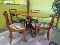20% Off All INSTORE ITEMS* - Yewwood Veneer Extendable Dining Table & 4 Chairs - Can Deliver For £19
