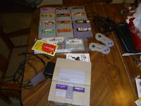 Super Nintendo w/ 2 Controllers and 13 Games (Mostly SFC)