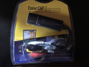 Easier CAP USB 2.0 video adapter with audio.