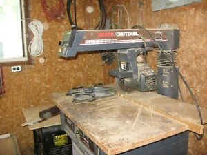 Sears Craftsman Brand Table saw with 10 inch blade and cabinet