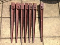 7 x Metal Fence Post Spikes For 75mm Posts