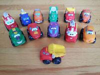 """Chuck and Friends"" Tonka Trucks - a dozen toy trucks"