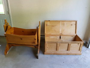 Cradle and blanket box