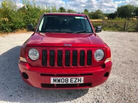 08 JEEP PATRIOT 2.0 CRD SPORT 4WD FSH LOW GENUINE 74K TOW BAR ROSSO RED PX SWAP