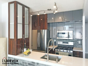 Custom Kitchens, Cabinet Refacing, and Quartz countertops