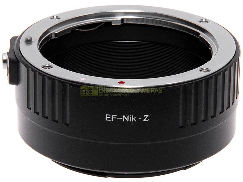 Adapter per obiettivi Canon EF su fotocamera Nikon Z mirrorless. Adattatore.