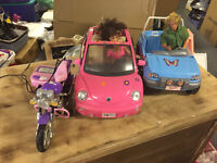 Barbie Cars and dolls!