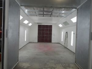 Semi down draft paint booth