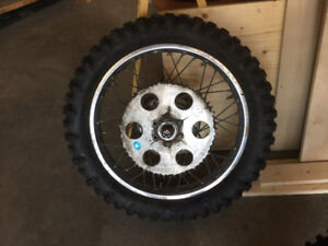 Complete Yamaha DT250 Enduro Rear Wheel Assembly