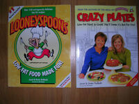 """""""Crazy Plates"""" & """"Looney Spoons"""" Recipe books like new."""