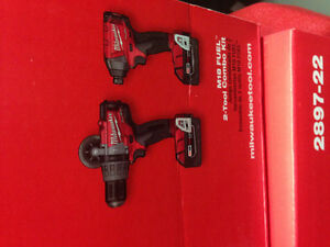 Brand new Milwaukee 18v hammer drill-impact combo.