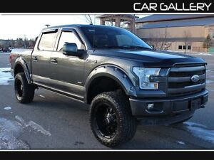 2015 Ford F-150 LARIAT SPORT FX4 LIFTED w/Leather, Sunroof, Navi