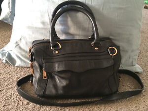 Rebecca Minkoff Black Morning After Mini with Rose Gold HW