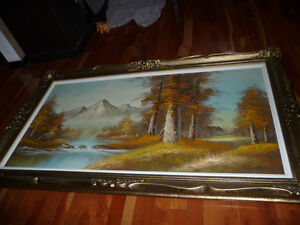 GIANT 32 x 56 Framed Painting