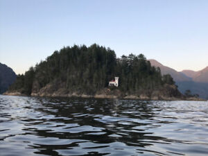 Private Island and fishing cabin rental on Pacific West Coast