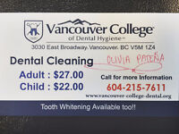 Affordable Dental Cleaning by a Dental Hygiene Student