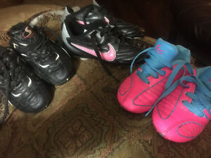 Soccer cleats size 10T and 12T