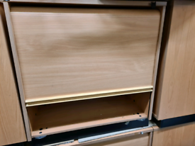 File cabinets with sliding door