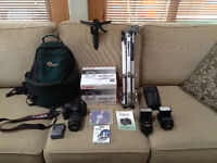 Canon 20D with accessories