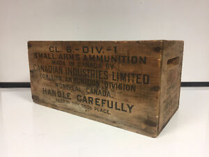 Early 1900's Vintage Ammunition box only | Canadian Industries