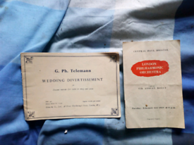 Two wedding advert booklet and opera peogramme£50each