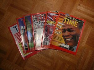 Lot of Time Magazines from the 80's and 90's