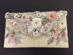 Embellished floral lace clutch from Accessorize U.K.