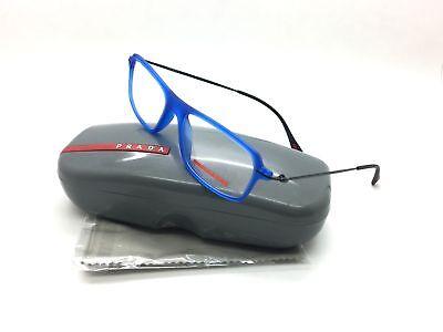 Prada Sport Blue Eyeglasses VPS 03F TIU 1O1 55 mm Red Feaather Azure Italy