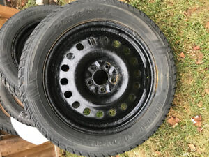 4 Winter tires with rim size 235/55R18