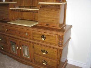 Marble and Brass Roll Top Women's Dresser