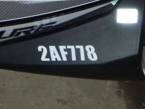 Custom Sled Registration Numbers Windsor Region Ontario image 1